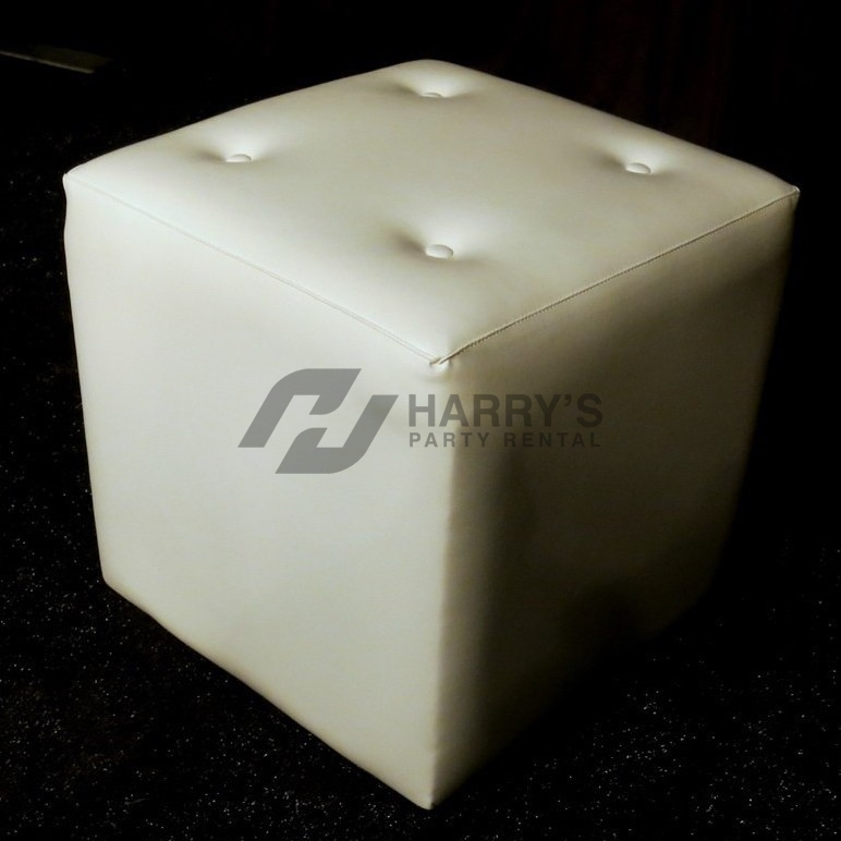 Super White Leather Cube Ottoman Inzonedesignstudio Interior Chair Design Inzonedesignstudiocom